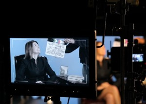 Photo of Jeneen Graham filming her MOOC