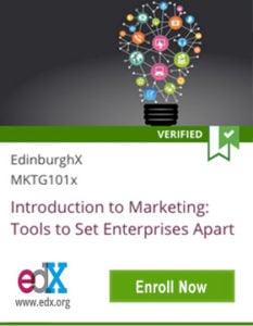 Links to EdinburghX Introduction to Marketing