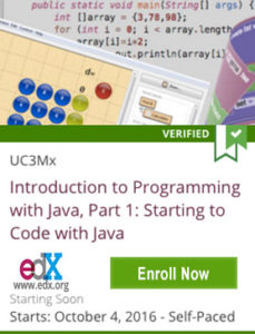 Links to Introduction to Programming with Java, Part 1: Starting to Code with Java