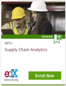 links to supply chain analytics course from MITx