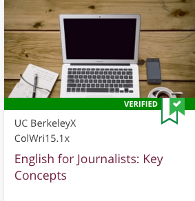 Link to English For Journalists: Key Concepts by UC BerkeleyX