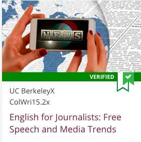 Link to English for Journalists: Free Speech and Media Trends from UC BerkeleyX