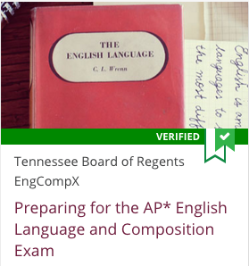 Link to Preparing for the AP English Language and Composition Exam from Tennessee Board of Regents