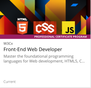 links to w3c front end web developer professional certificate program page