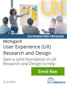 Links to UX MicroMasters