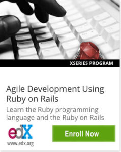 Link To Agile Development Using Ruby on Rails from UC BerkeleyX