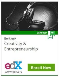 Berkleex - Creativity and Entrepreneurship, edX, www.edx.org, Enroll Now