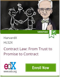 Link To Contract Law: From Trust to Promise to Contract by HarvardX