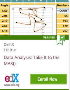 Link To Data Analysis: Take it to the MAX by DelftX