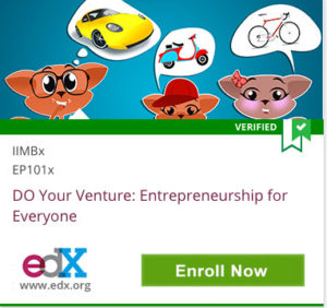 Link To DO Your Venture: Entrepreneurship for Everyone from IIMBx
