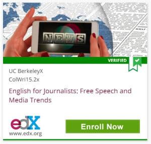 NEWS, Verified, UC BerkeleyX ColWri15.2x English for Journalists: Free Speech and Media Trends, edX, www.edx.org, Click to Enroll Now