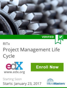 Links to Project Management Life Cycle from RITx