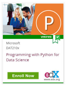 Link To Programming with Python for Data Science from Microsoft