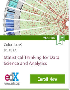 Link To Statistical Thinking for Data Science and Analytics from ColumbiaX