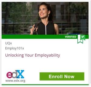 Verified, UQx, Employ101x, Unlocking Your Employability, edX, www.edx.org, Click to Enroll Now
